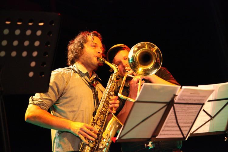 Points Septet jazz horns dechy Kalfus Jirucha JGGT 2015 Photo by Jan Slavicek
