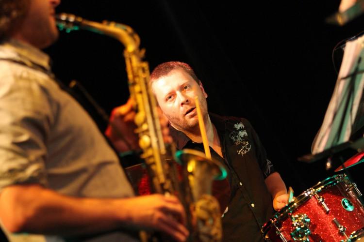 Points Septet jazz horns dechy feat. Soltis JGGT 2015 Photo by Jan Slavicek