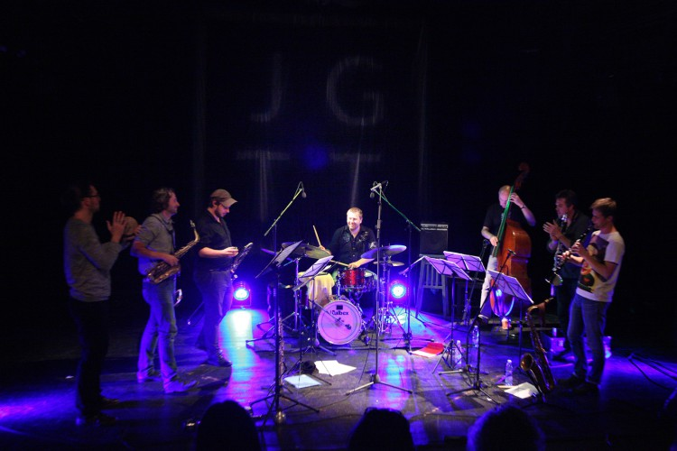 Points Septet jazz horns dechy Torok Kalfus Jirucha Soltis Honzak Barta Soukup JGGT 2015 Photo by Jan Slavicek