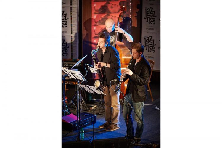 Points Septet jazz Lubos Soukup horns dechy composer skladatel saxophonist saxofonista Honzak Barta Jazzinec Trutnov 2015 Photo by Milos Salek