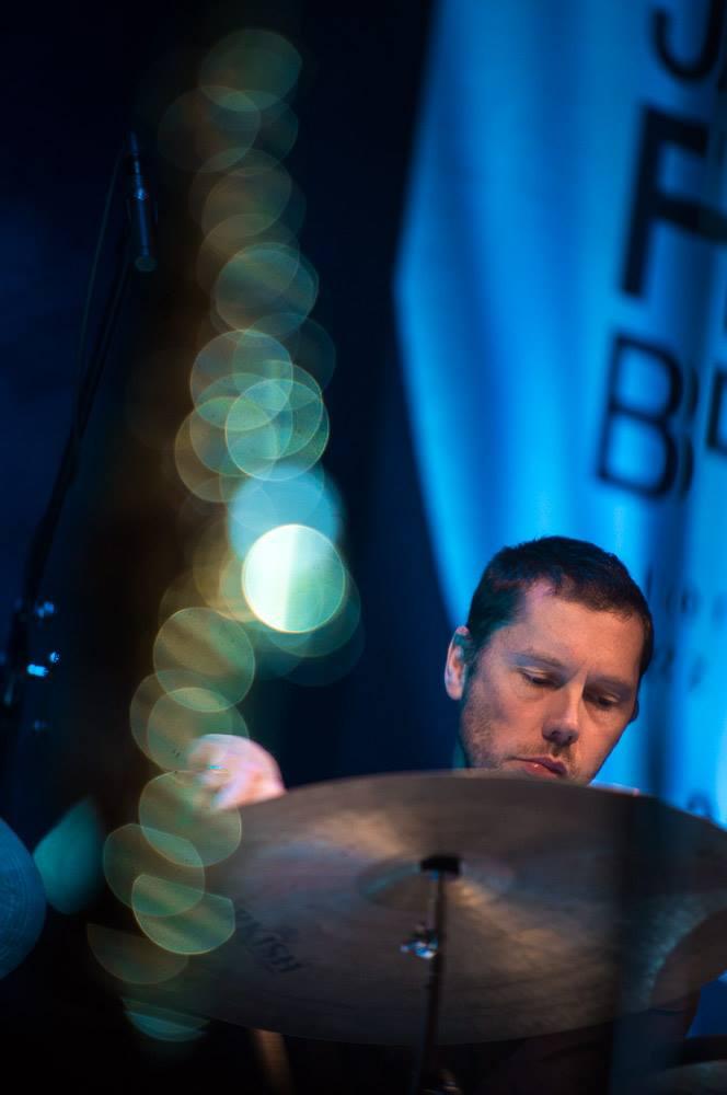 Drummer Morten Haesum playing with Lubos Soukup Quartet at Jazz Fest Brno 2017   photo by Martin Zeman
