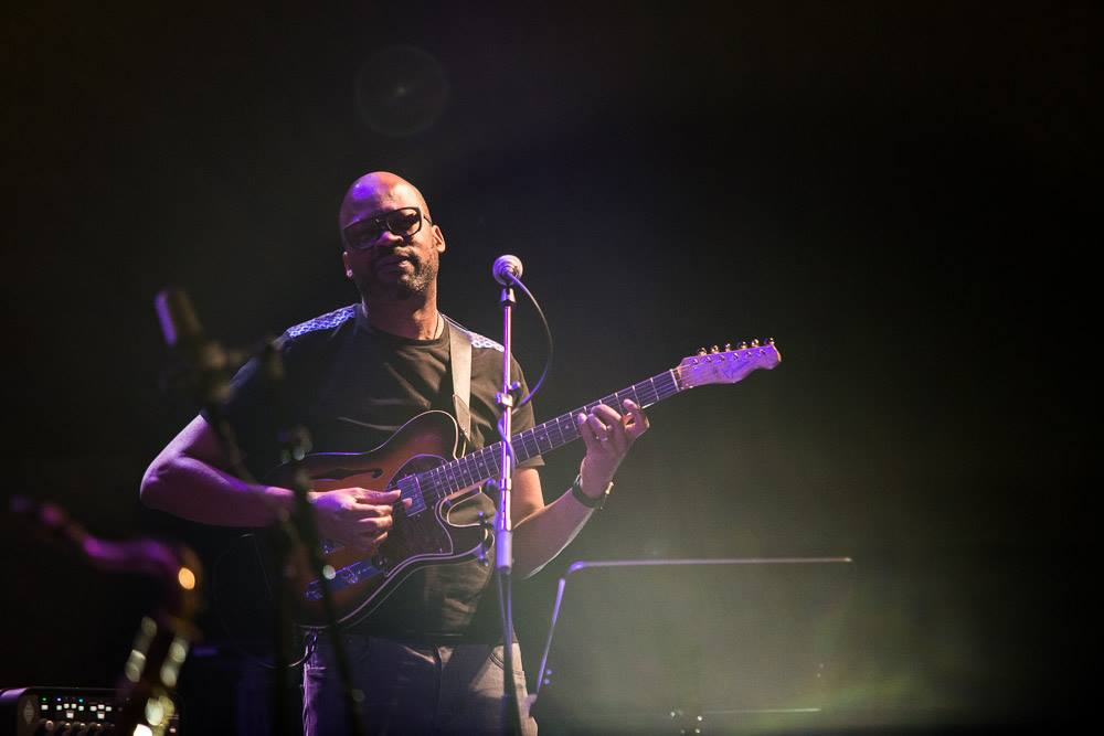 Guitarist Lionel Loueke playing with Lubos Soukup Quartet at Jazz Fest Brno 2017   photo by Martin Zeman