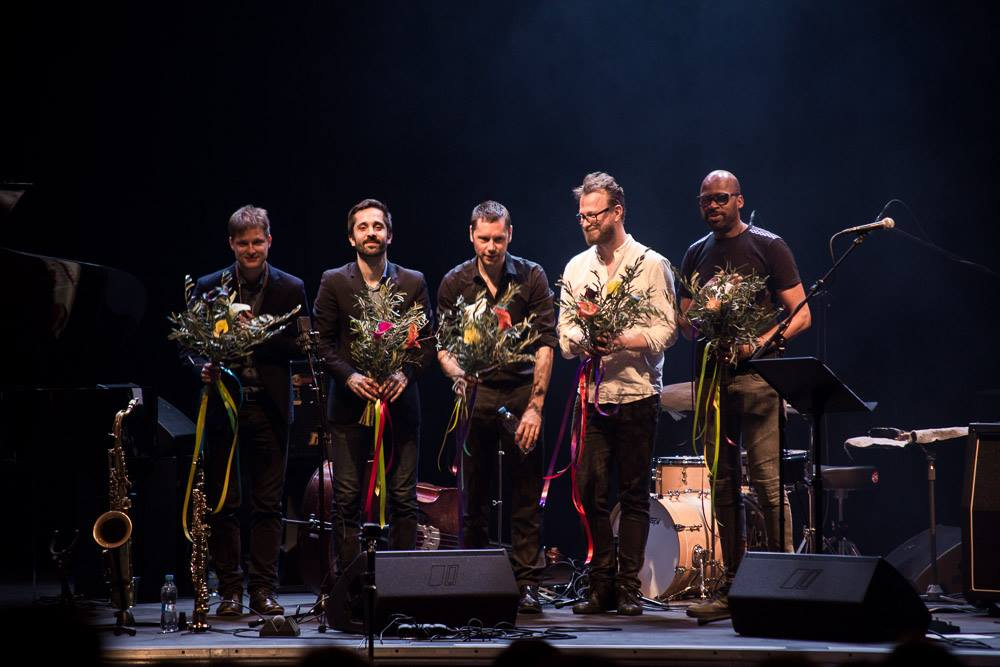 Lubos Soukup Quartet feat Lione Loueke at Jazz Fest Brno   foto Marin Zeman