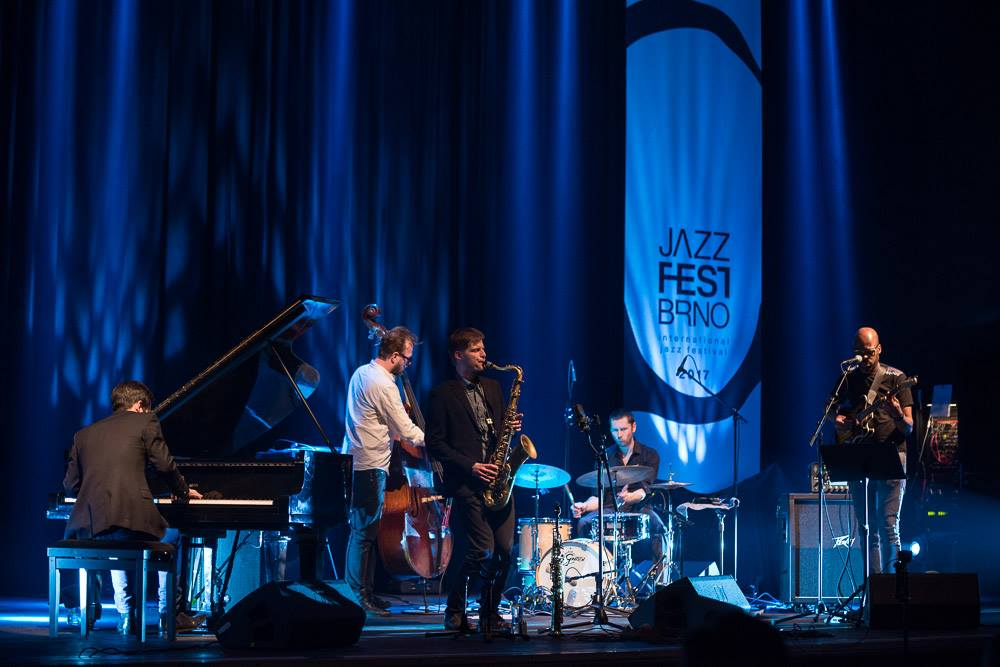 Lubos Soukup Quartet feat. guitartist Lionel Loueke playing at Jazz Fest Brno 2017   photo by Martin Zeman