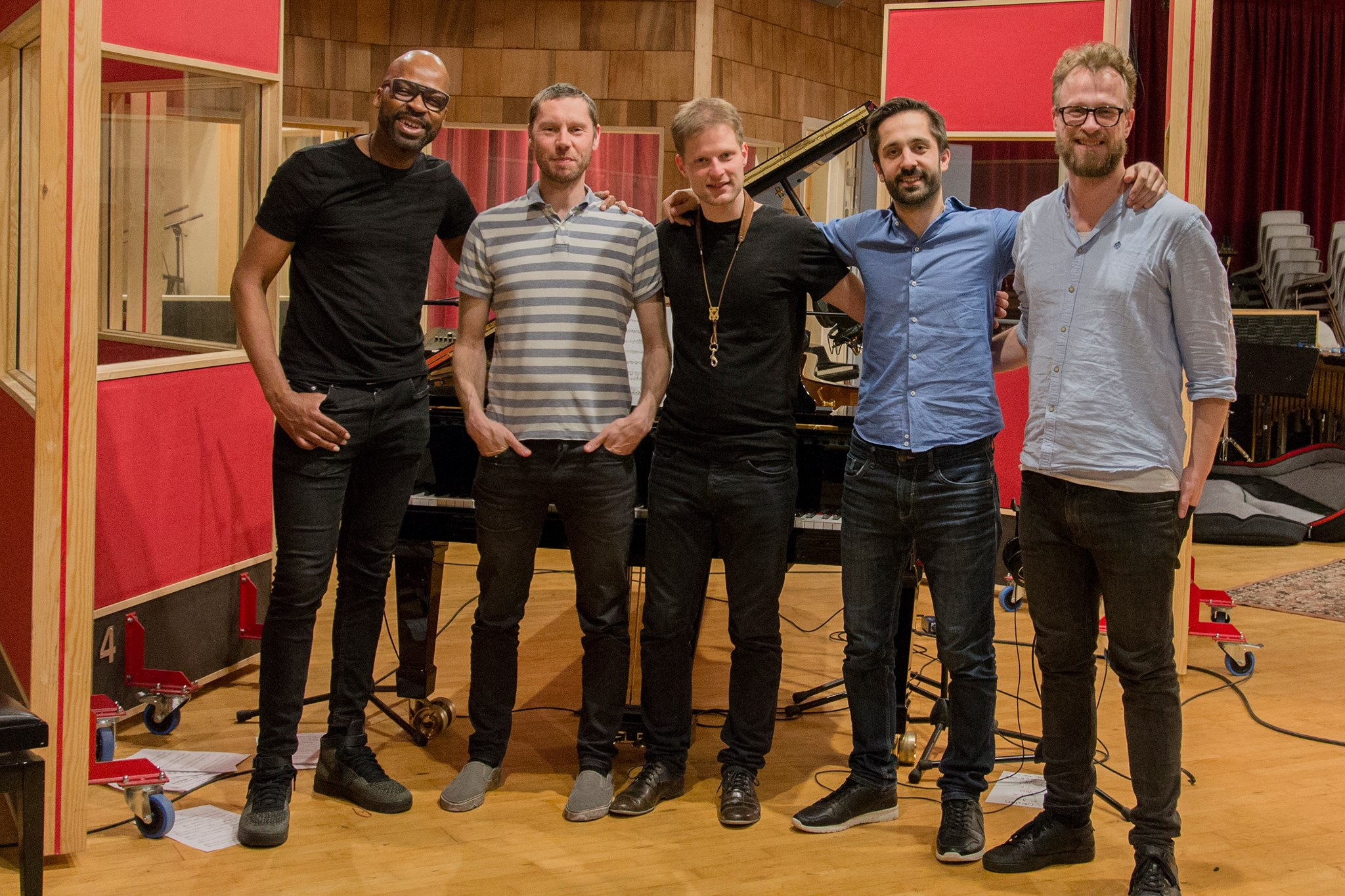 Lubos Soukup Quartet feat Lionel Loueke at the Village recording Studio in Copenhagen Denmark
