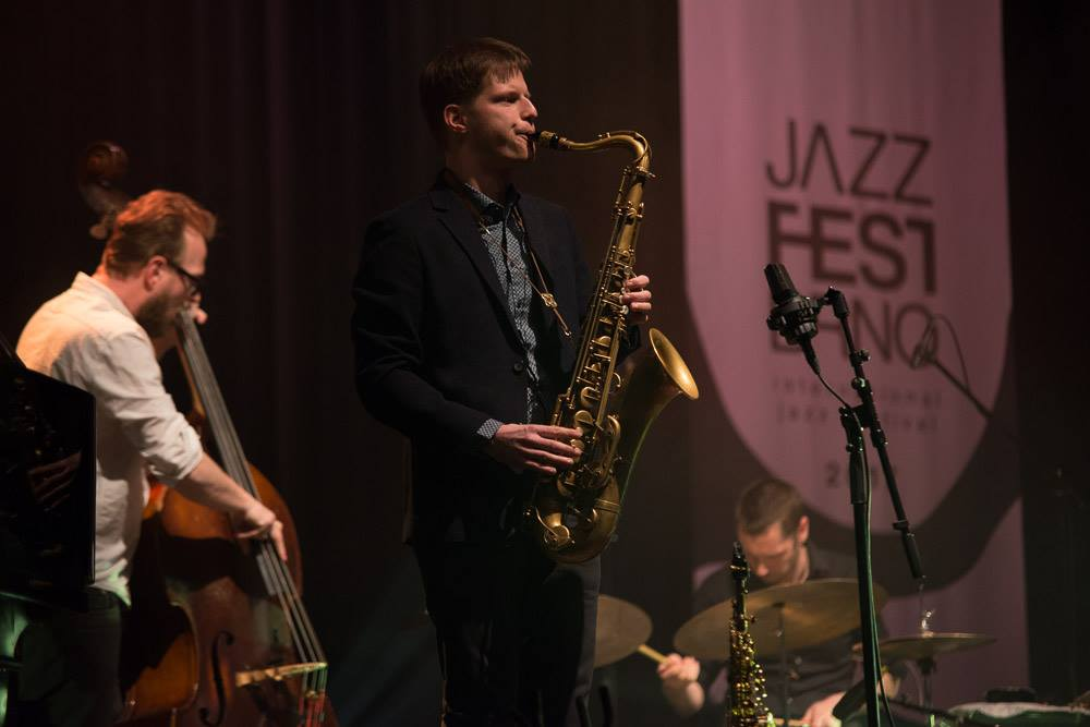 Lubos Soukup and his quartet playing at Jazz Fest Brno 2017   photo by Martin Zeman